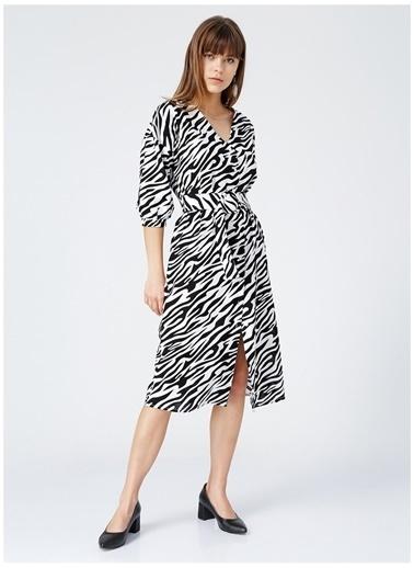 Fabrika Fabrika Daher Siyah - Beyaz Kadın Elbise Siyah